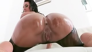 Franceska Jaimes big wet butt is amazing. This busty breathtaker shows off her killer ass in the pool under water and then again indoors. She takes big cock of Manuel Ferrera deep in her asshole with wild desire